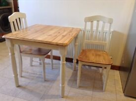 Small upcycled dining table and chairs