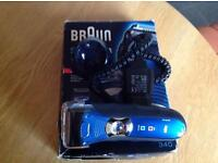 Never used as new !! Braun series 3 340 wet & dry shaver bargain ££££