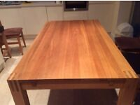 Solid Oak Extending Dining Table with two additional leaves