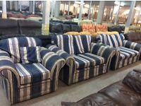 Blue fabric 3+2+1