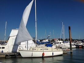 Sailing yacht, Snapdragon 747, in excellent condition with new Beta 10 hp engine, new propellor.