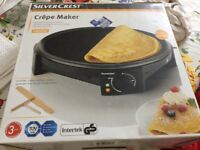 Crepe maker Silver Crest. Unused, never been out of box.