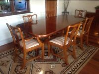 Reproduction Yew dining furniture 4 items