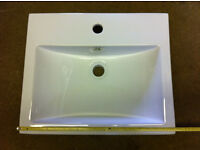 Bathroom Wash Basin Contemporary Design for Semi Recess Counter Top Mounting, Unused in Original Box