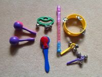 Musical percussion instruments ( includes sleigh bells)