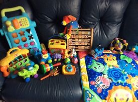 Large selection of baby/toddler toys.