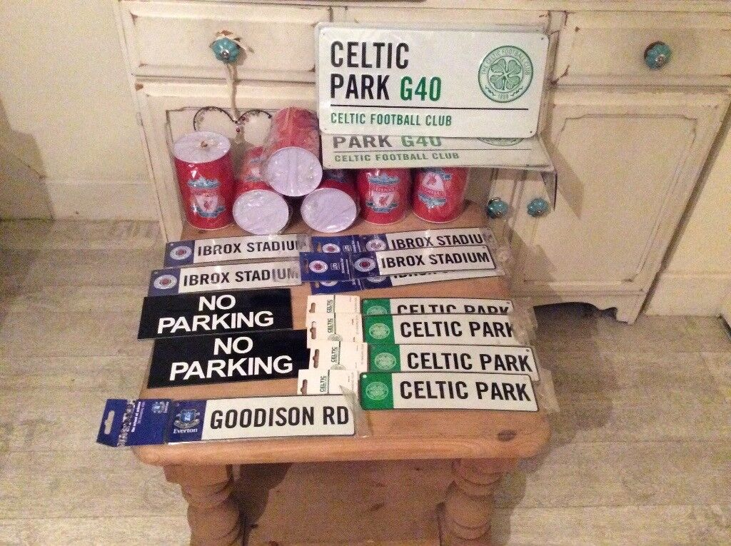 Celtic ,rangers ,Liverpool bedroom door signs job lot