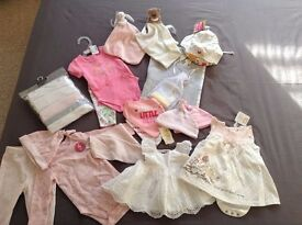 Mixed bundle of new baby girl clothes