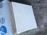 White 200mm 'Bumpy White' Tiles (2 Boxes as new & unopened)
