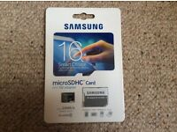 Samsung 16gb micro sdhc memory card and adapter (brand new)