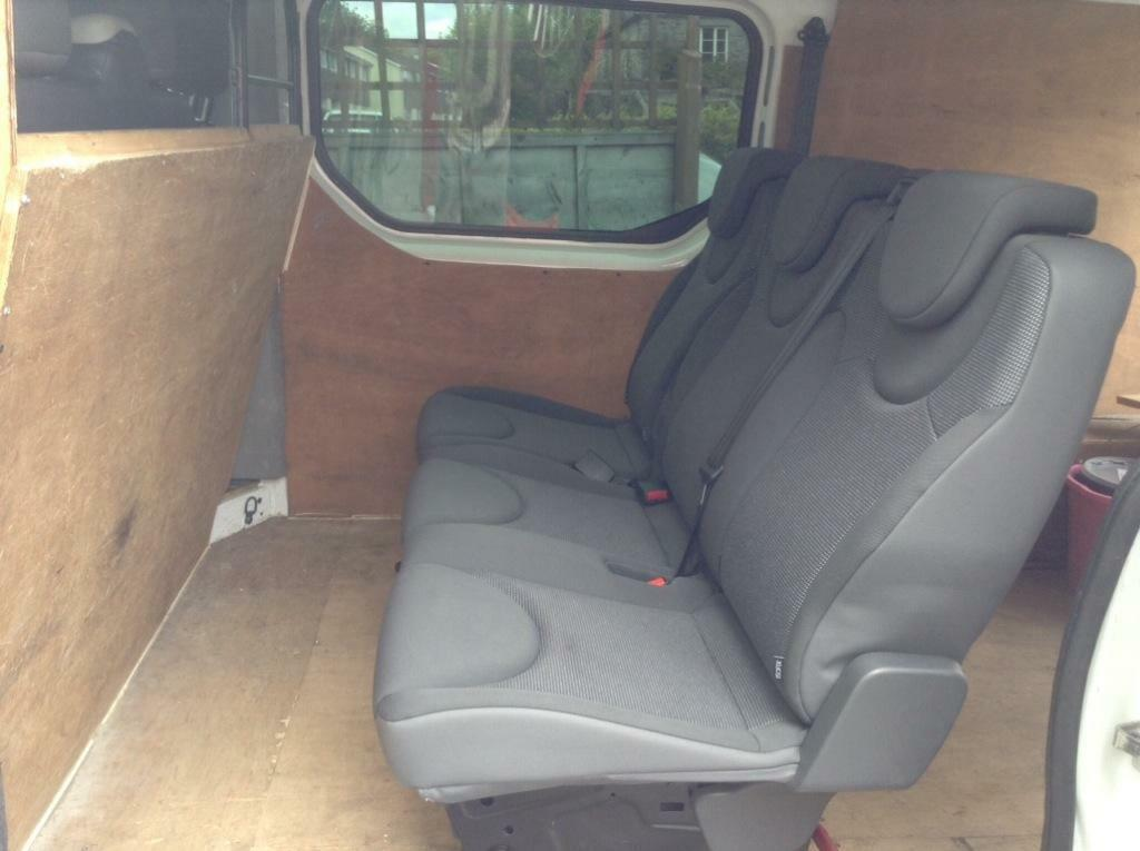 Vauxhall Vivaro Rear Seat Conversion Kit