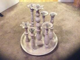 Decorative metal candlestick holder (new without tags)