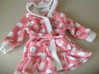 Girls Disney dressing gown, 12-18 months
