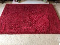 Like new red rug from Dunelms 6 months old