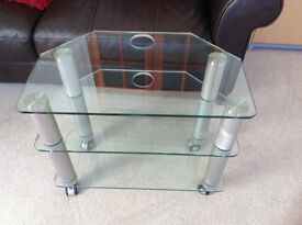 TV Glass Shelf Unit Stand