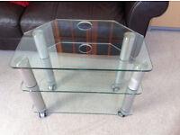 TV Glass Shelf Unit Stand