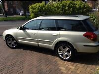 Subaru Outback 3.0Rn in champagne. One owner from new, regularly garage serviced.