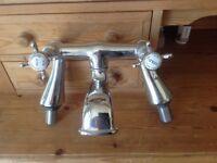 Chrome bathroom taps