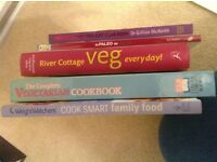 Healthy eating Cookery books - 5 books