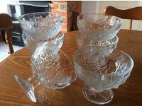 Glass sundae dishes