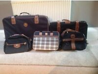 SET OF 5 ANTLER SUITCASES