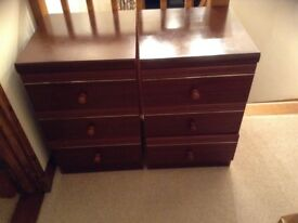 Two matching bedside cabinets