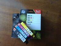 HP cartridges 364 - 4 pack