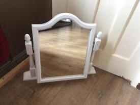 Upcycled swing dressing table mirror