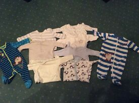 Baby boy sleepsuits 3-6 months