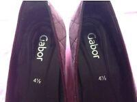Ladies shoes UK Size 4.5 Gabor burgundy flats. Nearly new