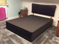King Size 4-drawer divan and headboard