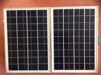 Portable 50w fold up solar panel.