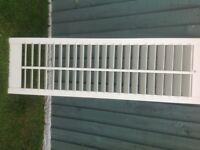 8 Wooden louvre window shutters