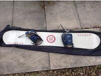 Mercury snow board with Preston bindings