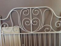 White ikea double bed metal frame £20