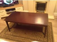 Stag mahogany Long John Coffee Table