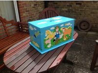 Nice toy box, from a craft fair, hand painted.