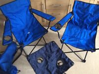 2x Folding Chairs and Table