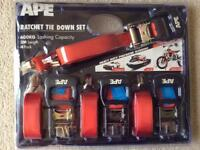 RATCHET TIE DOWN SET - BRAND NEW AND UNOPENED