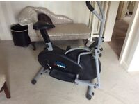 Cross trainer with excercise cycle