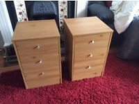 2 X chest of draws, in ex, cond