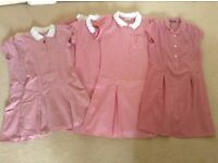 Red gingham school dresses bundle, mainly M&S, age 8 -12