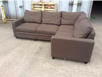 Brown Corner Sofa Bed with Storage - USED - £249 Inc Free Local Delivery