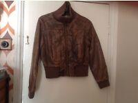 Vintage faux leather bomber jacket uk 12/14