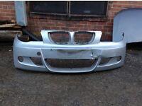 BMW 1 SERIES E87 M SPORT 2006-2010 ONWARDS FRONT BUMPER FOR SALE SLIGHTLY DAMAGED