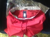 Brand New John Lewis Mens Designer lined swimming trunks(Shorts) in Dark Red, size 3XL.Still wrapped