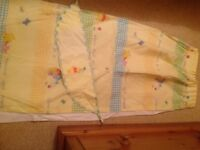 Winnie the Pooh Nursery Bedding, Curtains, Light fitting & wall hangings