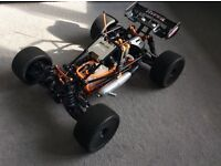 RC car nitro hyper SS cage truggy (very quick great condition)