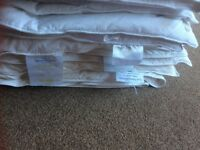 3 SINGLE FEATHER DUVETS 2 x 4.5 AND 1 x 9 TOG LOOK NOW