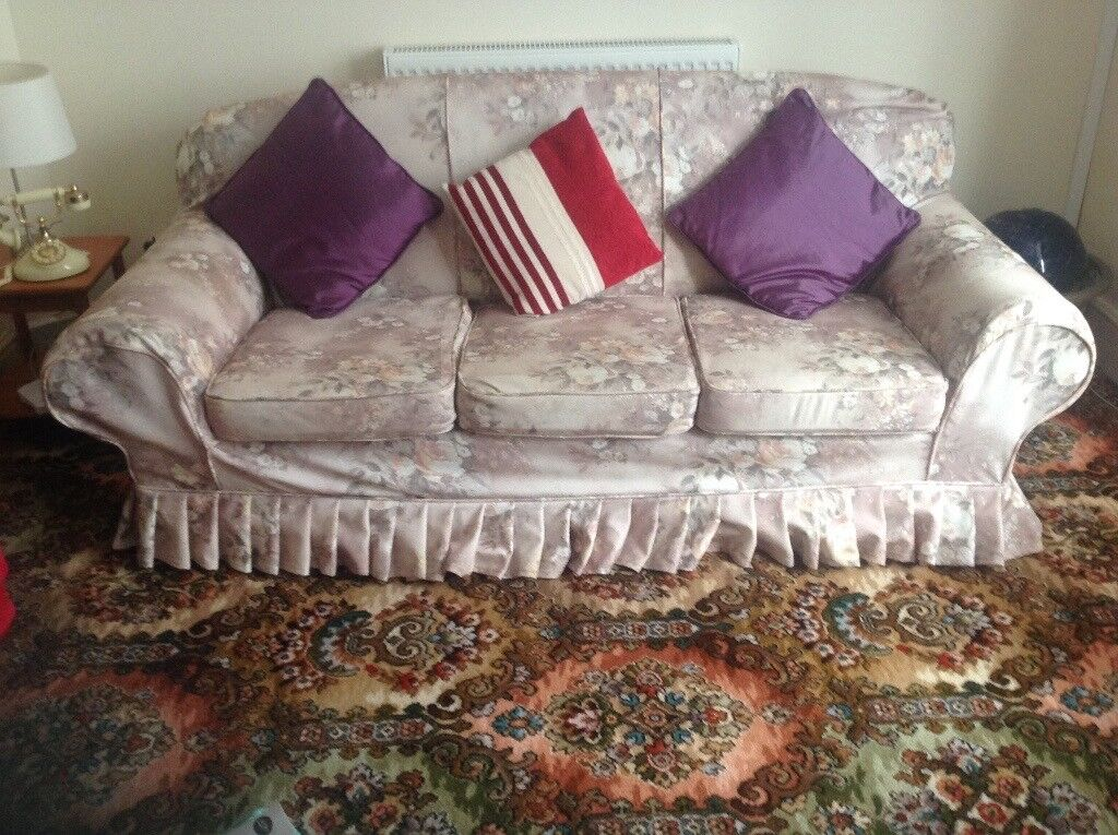 Three seater sofa + Two Arm chairs